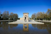 Temple of Debod. An ancient Egyptian temple that was dismantled and rebuilt in Madrid in Parque del Oeste