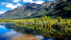 Mirror lakes, Te-Anau, New Zealand