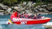 On a shotover jet, Queenstown, New Zealand