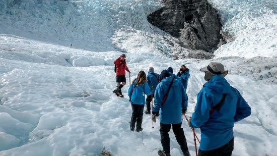 On a glacier walk in New Zealand, Southern Island
