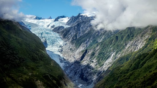 On a glacier walk in New Zealand, Southern Island