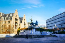 Don Quixote and Sancho Panza at Place d'Espagne, Brussels